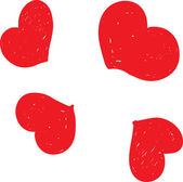 Red hearts. Awesome pattern — ストックベクタ