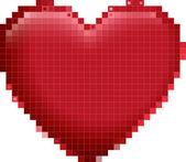 A big red circles heart — Stock Vector