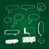 Collection of hand drawn speech bubbles — Cтоковый вектор