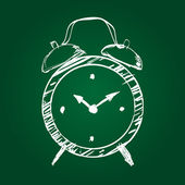 Hand drawn clock — Stock Vector