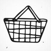 Cartoon shopping basket — Stock Vector