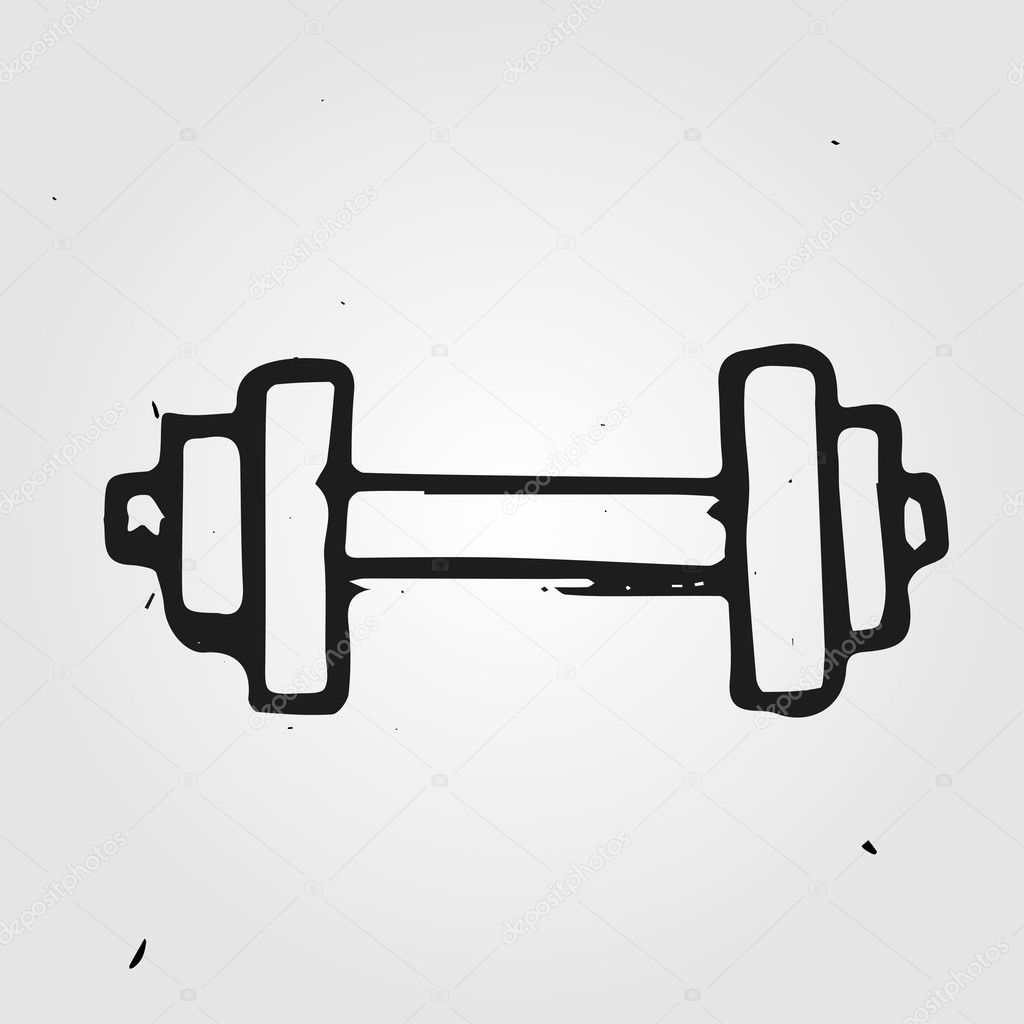 Vector dumbbell — Stock Vector © dimgroshev #36838779
