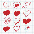 Hand drawn hearts — Stock Vector #37749299
