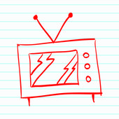 Hand drawn TV — Stock Vector