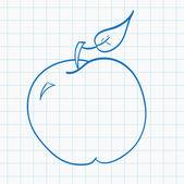Hand drawn apple — Stock Vector