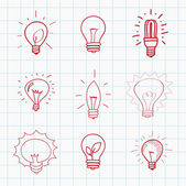 Set of light bulbs — Stock Vector
