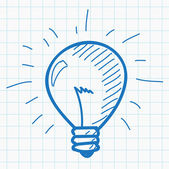 Hand drawn light bulb — Stock Vector