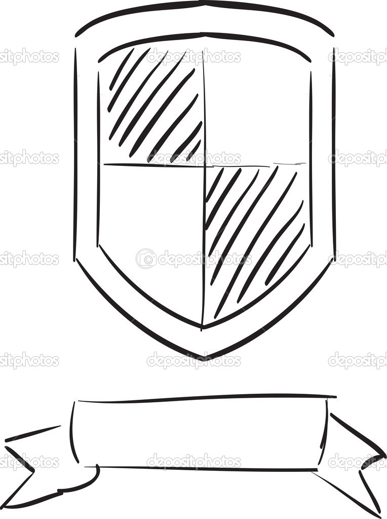 Hand Drawn Shield Hand Drawn Shield — Vector by