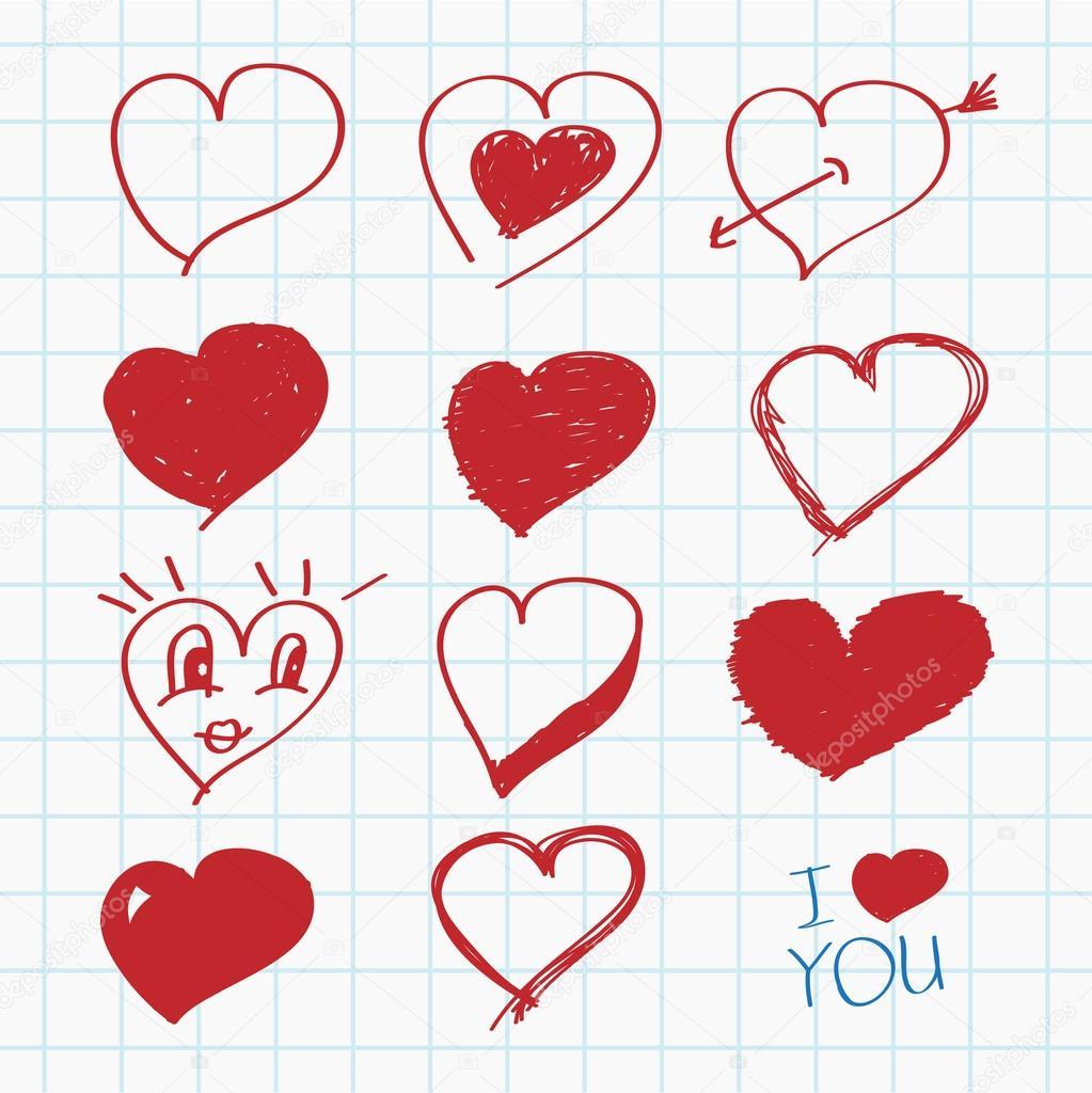 Разные рисунки с сердцами