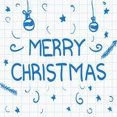рука нарисованные надпись с рождеством — Cтоковый вектор