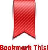 Red bookmarks — Stock Vector