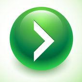 White arrow on green sphere. Next icon — Stock Vector
