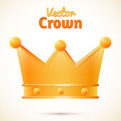 Vector crown isolated — Stock Vector