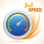Vector fast speed symbol, speedometer — Stock Vector