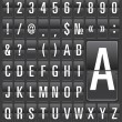 Set of letters on a mechanical timetable. - Image vectorielle