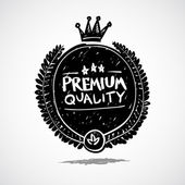 Doodle label premium quality — 图库矢量图片
