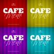 Cafe Menu card design template. — Stock Vector