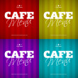 Cafe Menu card design template. — Stock Vector #14687003