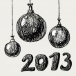Royalty-Free Stock Vector Image: Hand drawn vintage christmas balls