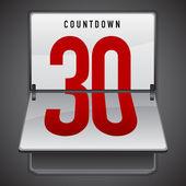 Dashboard countdown — Stock Vector