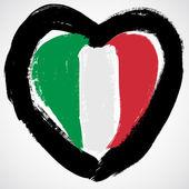 Italy grunge flag — Stock Vector