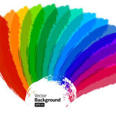 Multicolor Sunbeams grunge background. — Stock Vector