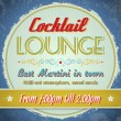 Vintage sign - Cocktail Lounge — Stock Vector