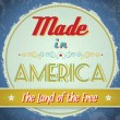 Vintage Made in America Sign — Stock Vector