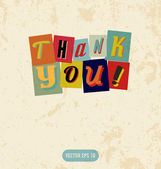 Thank you sign in retro doodle style — Stock Vector