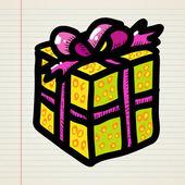Doodle cartoon gift — Stock Vector