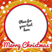 Christmas frame with place for text — Stock Vector