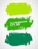 Green brush strokes — Stock Vector