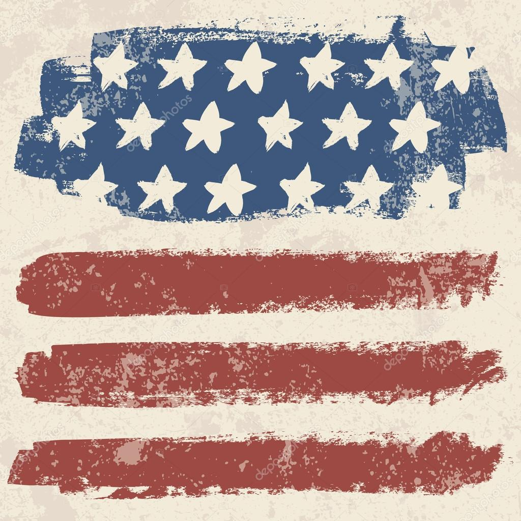 American flag vintage textured background  - Ilustraci  243 n de stockVintage Americana Background