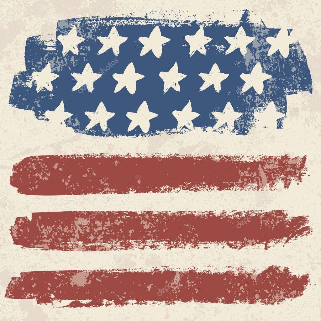 american flag vintage vector - photo #14