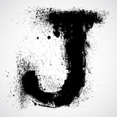 Grunge letter - alphabet symbol design — Stock Vector