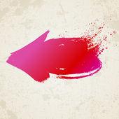 Red grunge arrow — Stock Vector