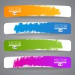 Colorful label paper brush stroke, illustration — Stock Vector