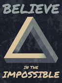 Believe in the impossible typography illustration. — Stock Vector