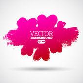 Graphic grunge hearts, ink splatter vector. — Stock Vector
