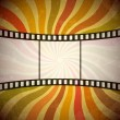 Wektor stockowy : Grunge film strip background. Vector, EPS10