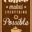 Coffee time - typography vintage background — Stok Vektör