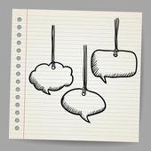 Blank doodle speech bubbles — Stock Vector