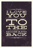 Valentine's Day type text typography — Stock Vector