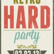 Stock Vector: Retro party vector typography poster illustration