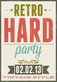 Retro party vector typography poster illustration — Stock Vector