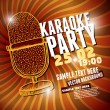 Stock Vector: Banner with retro microphone for karaoke parties