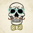 Vector illustration of decorative skull — Vector de stock