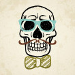 Vector illustration of decorative skull — ストックベクタ