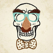 Vector illustration of decorative skull — Vettoriale Stock