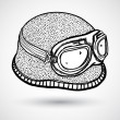 Royalty-Free Stock Vector Image: Retro motorcycle helmet and goggles